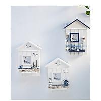 Hộp móc treo, cất giữ chìa khóa hình ngôi nhà bằng gỗ giao hình ngẫu nhiên