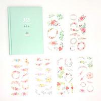 Sổ Kế Hoạch Nhật Ký 365 Ngày Life Planner  Xanh Ngọc Kèm Bộ 6 Tấm Sticker Trang Trí Mẫu Ngẫu Nhiên