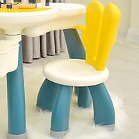 Bàn ghế xếp hình lego hoa anh đào cao cấp Umoo, chất liệu nhựa nguyên sinh an toàn cho bé