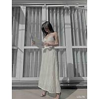 NAPUBEE Đầm Maxi 2 Dây Xoắn Ngực Đi Biển Thiết Kế Cao Cấp - Váy Dự Tiệc Sang Trọng LOLITA DRESS