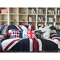 Thảm khăn trang trí sofa làm chăn đắp trang trí Retro cờ Mỹ