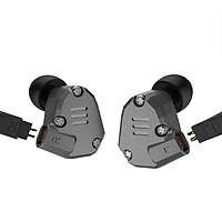 Tai nghe KZ ZS6 Bass mạnh, Âm thanh Hybrid HD 4 Driver có Micro - Màu Xám - Hàng chính hãng