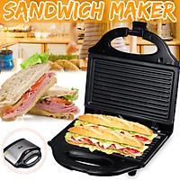 220v-240v 750W Electric Panini Press Sandwich Maker Grill Cake Panini Pancake Machine + Nonstick Grids Home Kitchen Breakfast Tool