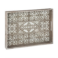 Khay gỗ trang trí mặt kính CARREAU | Casa Nhà Home Furniture