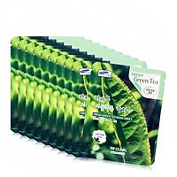 Combo 10 Gói Mặt Nạ Chiết Xuất Trà Xanh 3W Clinic Fresh Green Tea Mask Sheet (23ml x 10)