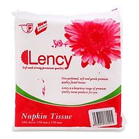 Combo 3 gói Khăn giấy ăn Lency 330 100 tờ 1 lớp