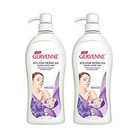 Combo 2 Sữa tắm Trắng da Hương nước hoa Gervenne Purple Lily (900g/chai)