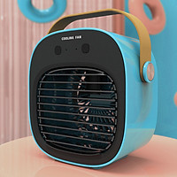 Portable Air Cooler Personal Air Conditioner Fan, Mini Evaporative Cooler Desk Fan with Handle, 3 Winds Speed, Super Quiet Humidifier Misting Fan