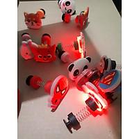 Nút gắn dép Cross Lò Xo có đèn LED - Jibbitz Charm Sticker cài dép Sục, Satihu, Cá Sấu