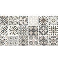 Decal gạch bông màu cổ điển dán bếp bền đẹp khổ lớn nguyên tấm GB-001 KT 120 x 60 cm