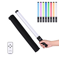 20W Handheld RGB Colorful Light Wand LED Photography Light Bi-color Temperature 3000K-6500K Dimmable Brightness 0%-100%