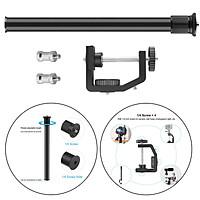 """13-23.6inch Adjustable Tabletop Desk Clamp Mount Stand Holder 1/4"""" Screw Tip for DSLR Camera Ring Light Camcorder Video Light Action Camera"""