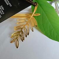 Bookmark kim loại mạ đồng cành dương xỉ