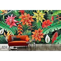 Tranh dán tường cây chuối và các loài hoa ADH190917-12