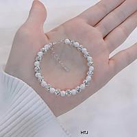 Vòng tay nữ bạc ta bi phay MS25c