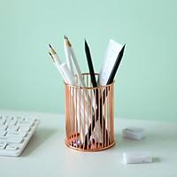 Nordic Style Tabletop Wrought Iron Pen Holder Office Desk Storage Organizer