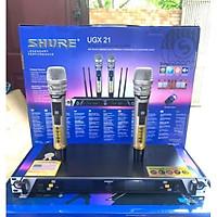 Micro karaoke không dây Shure UGX 21 loại 1 (Board đỏ) 4 anten hàng chính hãng