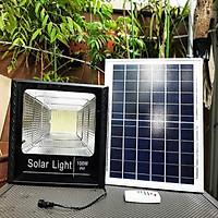 Đèn Pha năng lượng mặt trời Solar Light 100W (Tặng móc khóa gỗ BTS thiết kế độc quyền)