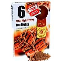 Hộp 6 nến thơm tinh dầu Tealight Admit Cinnamon QT026109 - hương quế