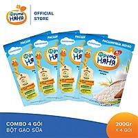 Combo 4 Gói Bột ăn dặm gạo sữa Fruto Nyanya 200g