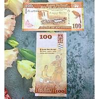 Tiền cổ 100 Rupees của Sri Lanka hình con chim, mới 100% UNC, tặng túi nilon bảo quản