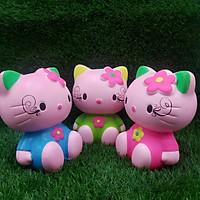 Heo đất tiết kiệm tiền mẫu Mèo KITTY cực HOT - Ống Heo làm quà tặng - màu ngẫu nhiên