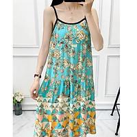 Đầm Bầu Váy Bầu suông Chất lanh Lụa Hàn Mềm, siêu mát Thấm Mồ Hôi Tốt, Freesize từ 45 đến 70Kg