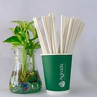 [AgroLife] Ống hút giấy từ sợi mía - Hộp 250 ống hút phi 8mm không cắt xéo - 100% an toàn sức khỏe - Thân thiện với môi trường