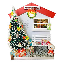 Mô Hình Gỗ DIY Noel Để Bàn - Cây Thông Giáng Sinh