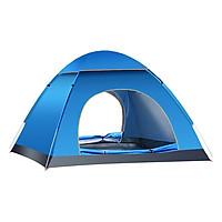 Lều cắm trại tự bung, lều du lịch cho 4 người, 2 cửa, có màn chắn côn trùng