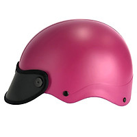 Mũ bảo hiểm trơn 1/2 đầu thời trang (Hồng)