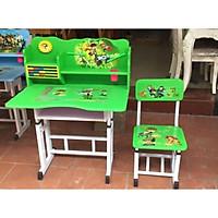 Bộ bàn ghế học sinh tiểu học có giá sách