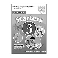 Cambridge Young Learners English Tests Second edition Starters 3 Answer Booklet