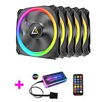 Bộ 5 Quạt Tản Nhiệt PC Antec Prizm 120RGB + Remote + Hub Chính Hãng - Hàng Chính Hãng