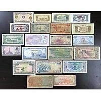 Bộ 21 tờ tiền xưa Việt Nam qua các thời kỳ, làm phong phú thêm cho bộ sưu tập của bạn, thích hợp với những người mới bắt đầu sưu tầm, làm quà tặng thú vị, kích thước 15 x 7.5cm, nhiều màu - TMT Collection - SP000016