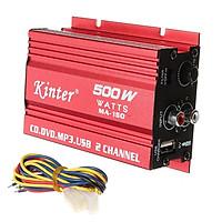Bộ khuếch đại âm thanh mini 12V cho xe hơi Kinter MA-150 (đỏ)