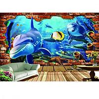 Tranh dán tường cửa sổ đại dương CS92