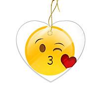 Miếng Sứ Trang Trí In Hình Emoji Nụ Hôn Tình Yêu - Mẫu006
