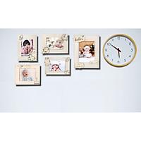 Trọn bộ combo 5 khung ảnh dành cho bé, khung ảnh trang trí bàn tiệc thôi nôi, phòng cho bé siêu xinh tặng kèm bộ kit đinh ốc giúp bạn dễ dàng treo tường