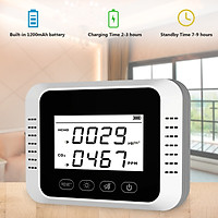 Air Quality Monitor Carbon Dioxide Detector Digital CO2 Meter Formaldehyde Tester Pollution Meter Air Analyzer for