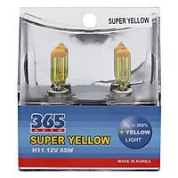 Bộ 2 Bóng Đèn Phá Sương 365-Auto H11 Super Yellow - Vàng