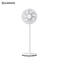 AIR MATE 12 Inch Oscillating 7-Blade Standing Pedestal Fan with 3 Speed/Adjustable Heights Quiet Desk Fan for