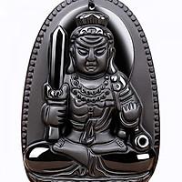 Phật Bản Mệnh Bất Động Minh Vương Đá Obsidan Tuổi Dậu