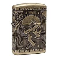 Bật Lửa Zippo 29268 - Steampunk 360 Multicut Antique Brass Armor