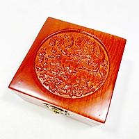 Hộp đựng trang sức gỗ hương trạm khắc chim phượng hoàng UK WOOD