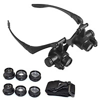 10X 15X 20X 25X Magnifying Glass Set with Headband & LED Light Magnifier Watchmaker Jewelry Optical Lens