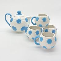 Bộ trà 4 ly bằng sứ cao cấp Minh Tiến - Hình trái banh