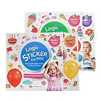Combo 4 Quyển Logic Sticker For Kids - Sách Dán Hình Giúp Phát Triển Tư Duy Não Bộ Cho Trẻ (2 - 8 Tuổi)
