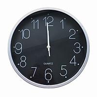 Đồng hồ treo tường kim giật cao cấp Quartz Black DT10