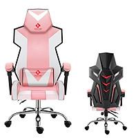 Ghế chơi game cao cấp dành cho game thủ chân xoay nghiêng ngả 135 độ có gối masage lưng model E05 (Hàng nhập khẩu ) Thái Lan mẫu mới 2020